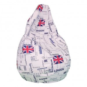 excellent puff pera xl con la bandera de london with como hacer puff pera with como hacer un puff pera - Como Hacer Un Puff Pera